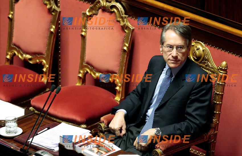 Giulio Terzi di Sant'Agata..Roma 13/03/2012 senato. Informativa del Ministro degli Esteri  sull'uccisione dell'ostaggio italiano in Nigeria...Photo Samantha Zucchi Insidefoto
