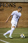 Steven Echevarria (15) of the Wake Forest Demon Deacons controls the ball during second half action against the Pitt Panthers at Spry Soccer Stadium on September 16, 2017 in Winston-Salem, North Carolina.  The Demon Deacons defeated the Panthers 2-0.  (Brian Westerholt/Sports On Film)
