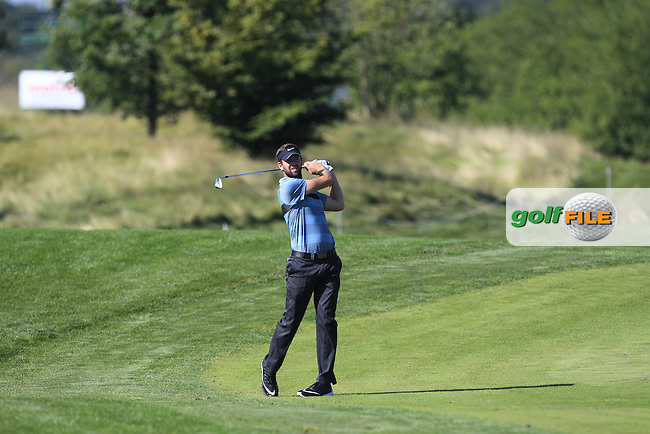Scott Jamieson (SCO) on the 18th fairway during Round 2 of the D&amp;D Real Czech Masters 2016 at the Albatross Golf Club, Prague on Friday 19th August 2016.<br /> Picture:  Thos Caffrey / www.golffile.ie<br /> <br /> All photos usage must carry mandatory copyright credit   (&copy; Golffile | Thos Caffrey)