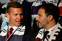 Philadelphia, PA - Friday January 19, 2018: Jesse Marsch, Anthony Hudson during the 2018 MLS SuperDraft at the Pennsylvania Convention Center.