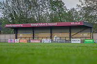 General View of the Dulwich Hamlet football ground ahead of the London Old Boys Senior Cup Final between Old Parmiterians and Old Hamptonians at Dulwich Hamlet Football Club, Dulwich, England on 11 May 2016. Photo by David Horn/PRiME Media Images.