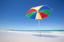 Umbrella on beach Australia.