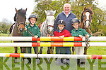 Donie Geaney and his sons Dan, Jack and Conor who are preparing for the Castleisland Horse Show which will be held in Crag, Castleisland on Sunday 20th May..