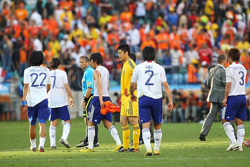 쓇ik/Eiji Kawashima (JPN), .JUNE 19, 2010 - Football : .2010 FIFA World Cup South Africa .Group Match -Group E- .between Netherlands 1-0 Japan .at Durban Stadium, Durban, South Africa. .