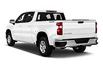 Car pictures of rear three quarter view of 2019 Chevrolet Silverado-1500 LT 4 Door Pick-up Angular Rear