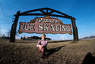 Rockford, Illinois - April, 1971. Ice Skating World Champion Janet Lynn at Ice Skating ring. Janet Lynn (b. April 6, 1953) is an American figure skater who won the 1972 Olympic bronze medal, is a two-time World medalist, and a five-time U.S national champion.