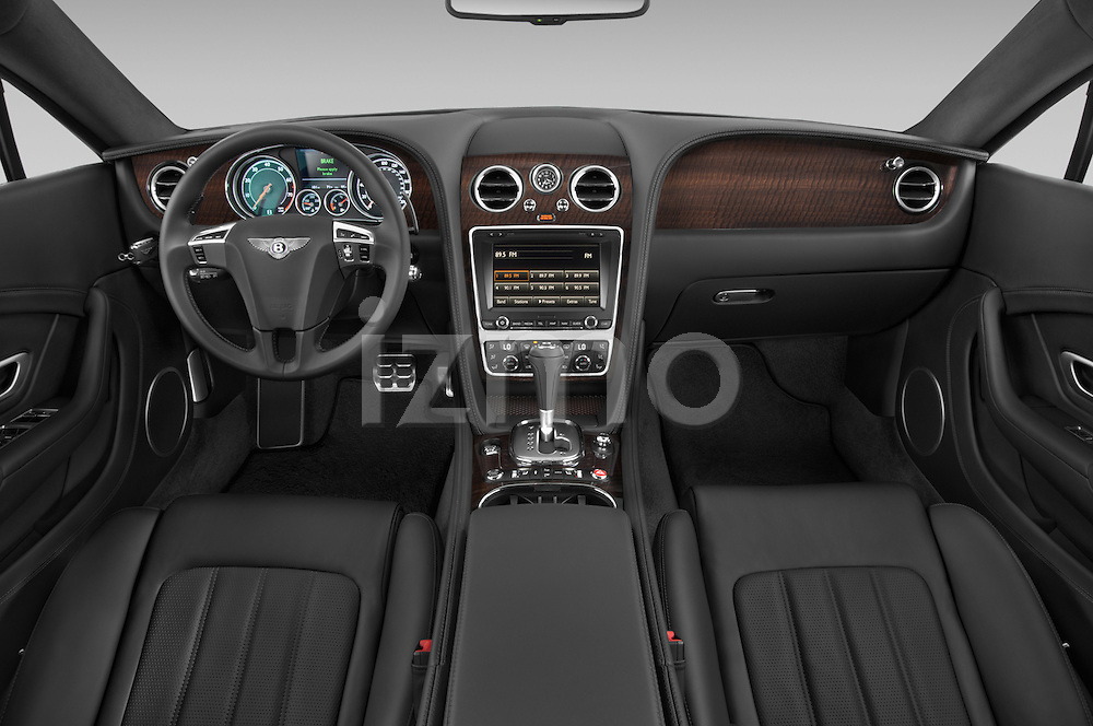 Stock photo of straight dashboard view of a 2014 Bentley Continental GT V8 Coupe 2 Door Coupe Dashboard