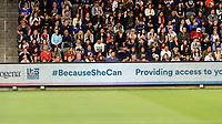 Los Angeles, Ca. - April 7, 2019: The U.S. Women's National soccer team vs the Belgium National team in a friendly at the Banc of California Stadium. Final score, U.S. 6, Belgium 0.