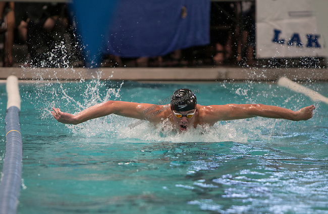 Truckee's Cooper DeRyk won the boys 3A 100 yard butterfly race during  the State Swimming Meet in Carson City on Saturday, May 20, 2017.