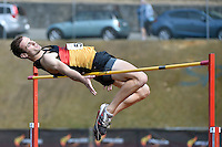 Matt Nicholls in action during the Athletics - NZ Track and Field Championships at Newtown Park, Newtown, New Zealand on Friday 6 March 2015. <br /> Photo by Masanori Udagawa. <br /> www.photowellington.photoshelter.com.