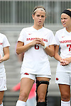 07 September 2014: Arkansas' Sam Wolf. The University of North Carolina Tar Heels played the University of Arkansas Razorbacks at Koskinen Stadium in Durham, North Carolina in a 2014 NCAA Division I Women's Soccer match. UNC won the game 2-1.