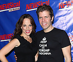 Leslie Kritzer & Perez Hilton attending the Opening Night Performance of Perez Hilton in 'NEWSical The Musical' at the Kirk Theatre  in New York City on September 17, 2012.