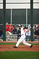 Matthew Palomino (6) of Sacred Heart Cathedral Prep High School in San Francisco, California during the Under Armour All-American Pre-Season Tournament presented by Baseball Factory on January 14, 2017 at Sloan Park in Mesa, Arizona.  (Zac Lucy/MJP/Four Seam Images)