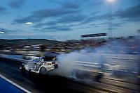 Jul. 19, 2013; Morrison, CO, USA: NHRA funny car driver Robert Hight during qualifying for the Mile High Nationals at Bandimere Speedway. Mandatory Credit: Mark J. Rebilas-