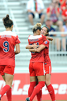 Boyds, MD - Saturday August 12, 2017: Estelle Johnson, Arielle Ship during a regular season National Women's Soccer League (NWSL) match between the Washington Spirit and The Boston Breakers at Maureen Hendricks Field, Maryland SoccerPlex.