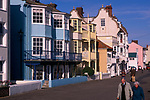 A3A7Y4 Aldeburgh Suffolk England sea front houses