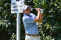 Bill Haas (USA) watches his tee shot on 2 during round 1 of the World Golf Championships, Mexico, Club De Golf Chapultepec, Mexico City, Mexico. 3/2/2017.<br /> Picture: Golffile | Ken Murray<br /> <br /> <br /> All photo usage must carry mandatory copyright credit (&copy; Golffile | Ken Murray)