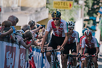 Team Suisse controlling the race<br /> <br /> MEN UNDER 23 ROAD RACE<br /> Kufstein to Innsbruck: 180 km<br /> <br /> UCI 2018 Road World Championships<br /> Innsbruck - Tirol / Austria