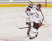Brad Barone (BC - 29), Patrick Brown (BC - 23) - The Boston College Eagles defeated the visiting St. Francis Xavier University X-Men 8-2 in an exhibition game on Sunday, October 6, 2013, at Kelley Rink in Conte Forum in Chestnut Hill, Massachusetts.