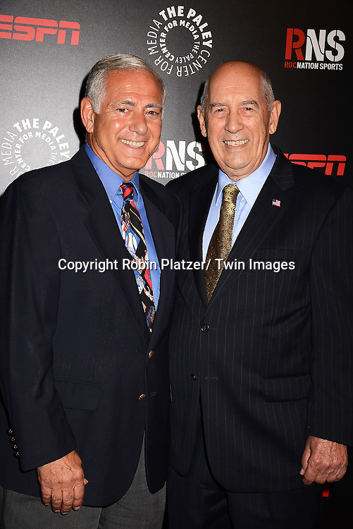 George Grande and Bill Rasmussen attend The Paley Center for Media's Annual Benefit Dinner honoring ESPN' s 35th Anniversary on May 28, 2014 at 583 Park Avenue in New York City, NY, USA.
