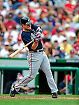 5 July 2009: Atlanta Braves' outfielder Matt Diaz in action against the Washington Nationals at Nationals Park in Washington, DC. The Nationals defeated the Braves 5-3, to take the rubber game of their 3-game weekend series. Mandatory Credit: Ed Wolfstein Photo