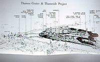London: Thames Center and Thameside Projects. Team: Ahrends Burton & Koralek; Richard Rogers, John Hawkes; Ove Arup & Partners & Monk, Dunstone, Brian Richards. AD 56-4, 1986.