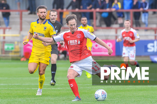 Fleetwood Town's midfielder Josh Morris (11) during the Sky Bet League 1 match between Fleetwood Town and AFC Wimbledon at Highbury Stadium, Fleetwood, England on 10 August 2019. Photo by Stephen Buckley / PRiME Media Images.