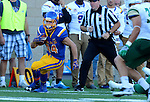 BROOKINGS, SD - SEPTEMBER 17:  Brady Mengarelli #44 from South Dakota State University looks for room against Cal Poly in the first half of their game Saturday night at the Dana J. Dykhouse Stadium in Brookings. (Photo by Dave Eggen/Inertia)