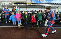 Leon Britton of Swansea of Swansea arrives before the Barclays Premier League match between Swansea City and Watford at the Liberty Stadium, Swansea on January 18 2016