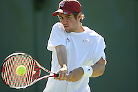 STANFORD, CA - OCTOBER 21:  Bradley Klahn of the Stanford Cardinal during the ITA Regional Singles Finals on October 21, 2008 at the Taube Family Tennis Stadium in Stanford, California.