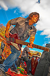 "Bassist Joe Pagano of ""Sweet Suzi & Sugarixx"" performing at Merrick Street Fair in Merrick, New York, USA, on October 22-23, 2011"