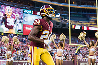 Landover, MD - August 16, 2018: Washington Redskins defensive back Josh Norman (24) runs out onto the field before the preseason game between the New York Jets and Washington Redskins at FedEx Field in Landover, MD. (Photo by Phillip Peters/Media Images International)