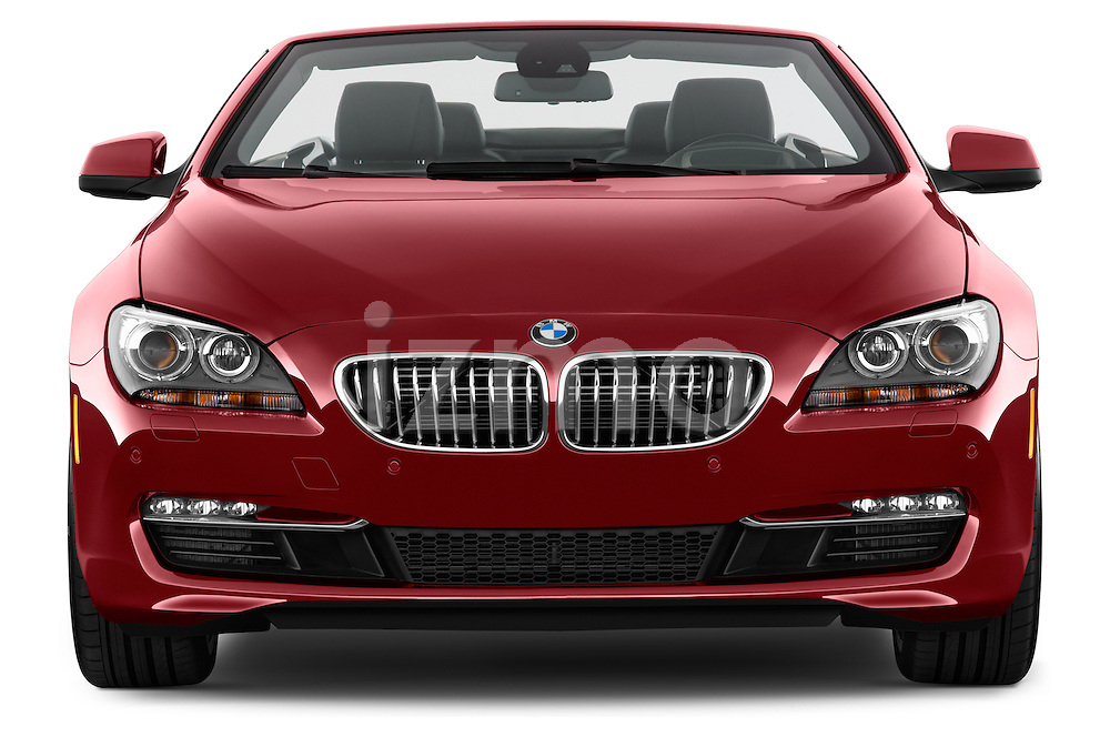Straight front view of a 2014 BMW 6 Series Convertible 3A