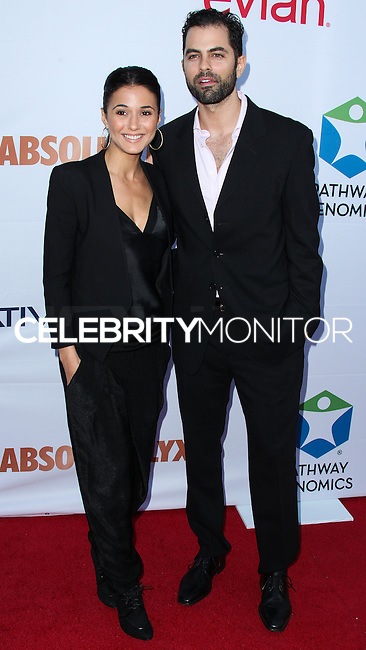 SANTA MONICA, CA, USA - JUNE 11: Emmanuelle Chriqui, Adrian Bellani at the Pathway To The Cures For Breast Cancer: A Fundraiser Benefiting Susan G. Komen held at the Barker Hangar on June 11, 2014 in Santa Monica, California, United States. (Photo by Xavier Collin/Celebrity Monitor)