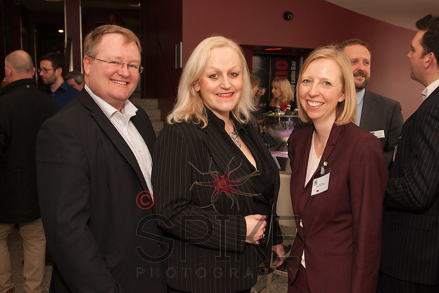 Pictured from left are Matt Youdale of Arch Communications, Heather Stanford of AKA Case Management and Alice Rees of Nelsons