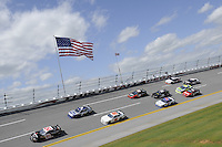 LINCOLN, AL - APRIL 16, 2011: Turn number four action during the NASCAR Nationwide Series Aaron's 312 at the Talladega Superspeedway..(Photo by Allen Kee / ESPN)..- RAW FILE AVAILABLE -