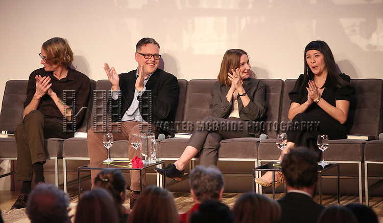 Patrick DeWitt, Eric DuPont, Shela Heti and Thea Lim during the Scotiabank Giller Prize 25 Finalists: Between The Pages at the New Museum on November 7, 2018 in New York City.