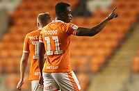 Blackpool's Joe Dodoo celebrates scoring his sides first goal<br /> <br /> Photographer Rachel Holborn/CameraSport<br /> <br /> The EFL Checkatrade Trophy Group C - Blackpool v Accrington Stanley - Tuesday 13th November 2018 - Bloomfield Road - Blackpool<br />  <br /> World Copyright &copy; 2018 CameraSport. All rights reserved. 43 Linden Ave. Countesthorpe. Leicester. England. LE8 5PG - Tel: +44 (0) 116 277 4147 - admin@camerasport.com - www.camerasport.com