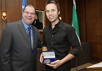 Stand up comic Louis-Jose Houde attend the Patriot Awards on November 10, 2012.