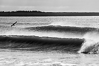 Perfect waves roll into Second or Sachuest Beach, Middletown, RI