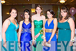 BELLS OF THE BALL: Enjoying great fun at the Dingle Debs at the Earl of Desmond hotel on Saturday l-r: Ca?it Ni? Thuama, Katie Moriarty, Sarah Kelliher, Orla Sheehy and Sorcha Matthews.