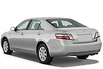 Rear three quarter view of 2009 Toyota Camry Hybrid Stock Photo