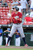 Lehigh Valley IronPigs outfielder Rich Thompson during a game vs. the Buffalo Bisons at Coca-Cola Field in Buffalo, New York;  August 1, 2010.  Buffalo defeated Lehigh Valley 2-1 in 10 innings.  Photo By Mike Janes/Four Seam Images