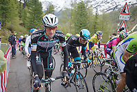 Wout Poels (NLD/OPQS) in the grupetto today<br /> <br /> 2014 Giro d'Italia <br /> stage 16: Ponte di Legno - Val Martello (139km)