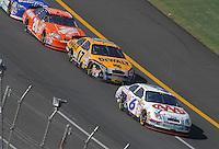 Apr 29, 2007; Talladega, AL, USA; Nascar Nextel Cup Series driver David Ragan (6) leads teammate Matt Kenseth (17) during the Aarons 499 at Talladega Superspeedway. Mandatory Credit: Mark J. Rebilas
