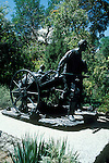 Utah, Salt Lake City, Pioneer Monument in Temple Square..Photo # utsalt611.  Photo copyright Lee Foster.  .