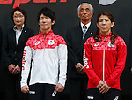 (L-R) Seiko Hashimoto, Ryohei Kato, Tsuyoshi Aoki, Saori Yoshida (JPN), MAY 26, 2016 - : A press conference about presentation of Japan national team official sportswear for Rio de Janeiro Olympics 2016 in Tokyo, Japan. (Photo by Sho Tamura/AFLO SPORT)