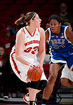 Wisconsin Badgers forward Lin Zastrow (33) handles the ball during an NCAA college women's basketball game against the Duke Blue Devils during the ACC/Big Ten Challenge at the Kohl Center in Madison, Wisconsin on December 2, 2010. Duke won 59-51. (Photo by David Stluka)