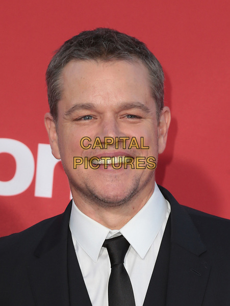 WESTWWOD, CA - October 22: Matt Damon, At The Premiere Of Paramount Pictures' 'Suburbicon' At the Village Theatre California on October 22, 2017. <br /> CAP/MPI/FS<br /> &copy;FS/MPI/Capital Pictures