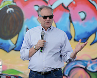 MIAMI, FL - OCTOBER 15: Democratic vice presidential nominee Tim Kaine speaks during a Voter Registration Event at Miami Dade College, Carrie P. Meek Entrepreneurial Education Center on October 15, 2016 in Miami Florida. Credit: mpi04/MediaPunch